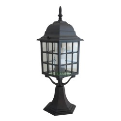 ALUMINUM GATE LAMP WITH LED BULB black EL3550 image here