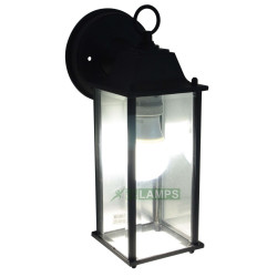 OUTDOOR WALL LAMP IN ALUMINUM BODY AND GLASS SHADE black EL4230LN image here