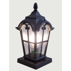 DECORATIVE ALUMINUM POST LAMP WITH LED BULB black EM1130 image here