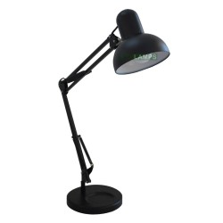 BLACK STUDY TABLE LAMP WITH LED BULB AND DIMMER black LL1118 image here