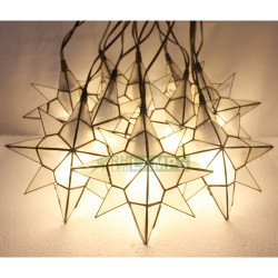 Capiz Four Point Star String Lights with 3 Watts LED Bulbs - set of 10 image here