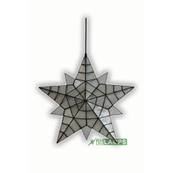 RHLED LAMPS, Capiz Christmas Lantern - Medium Star, white, XP0038 M image here