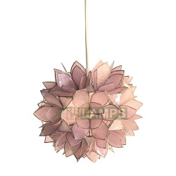 RHLED Lamps, Capiz Lotus Pendant with FREE LED Filament Bulb, Lavender, LC5110PR image here