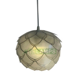 RHLED Lamps, Capiz Cabbage Lantern with FREE 3 watts warm white LED Bulb, LC5140 image here