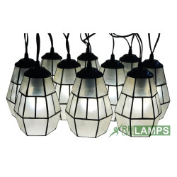 Capiz Flare String Lights Set of 10 complete with 3 watts LED Bulb image here