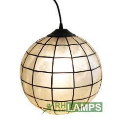 CAPIZ BALL HANGING LAMP image here