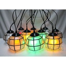 CAPIZ BALL HANGING LAMP - SET OF 10 image here