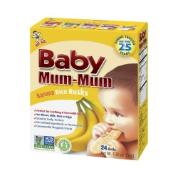 Baby Mum-Mum | Banana Flavour | All Natural Rice Biscuits for Kids (1PC),BM001 image here