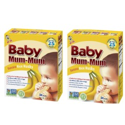 Baby Mum-Mum | Banana Flavour | All Natural Rice Biscuits for Kids (2PCS),BM004 image here