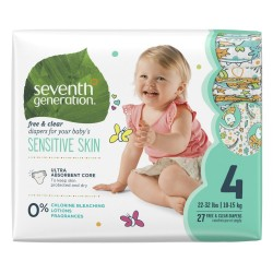 Seventh Generation |Free and  Clear Baby Diapers Stage 4 image here