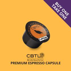 CBTL™ PREMIUM ESPRESSO CAPSULES box of 10 image here