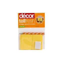 Decor, TELLFRESH TAGS PACK X 12, yellow, 135904 image here
