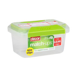 Decor, 350ml MATCH UPS CLIP STORAGE CONTAINER,  231600 image here