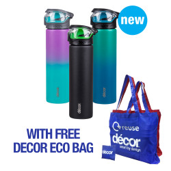DECOR ENERGY 1 TOUCH STAINLESS STEEL 780ml  235400 image here