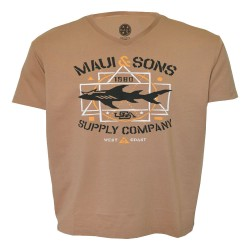 Maui and sons, t shirt v-neck, 400141.MOCCA image here