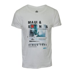 Maui and sons, Roundneck tshirt, White, 400155.WHT image here