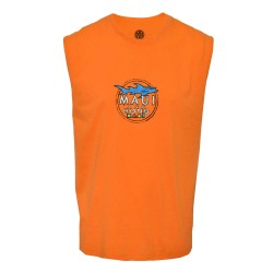 Maui and sons, Round neck muscle shirt, Orange, 415047.ORANGE image here