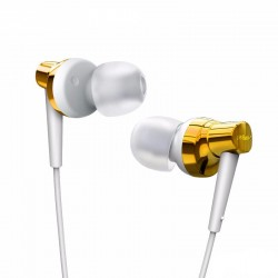Remax, Meter Stereo Metal Earphone RM 575 Pro Gold,gold,Stereo Metal Earphone RM 575 Pro Gold image here