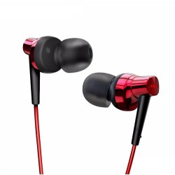 Remax, Meter Stereo Metal Earphone RM 575 Pro Red,red,Stereo Metal Earphone RM 575 Pro Red image here