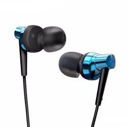 Remax Meter Stereo Metal Earphone RM 575 Pro Blue image here