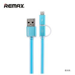 Remax, Aurora 1m 2in1 Micro USB Data Cable Blue,blue,Aurora 1m 2in1 Micro USB Data Cable Blue image here