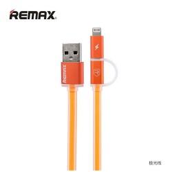 Remax, Aurora 1m 2in1 Micro USB Data Cable Orange,orange,Aurora 1m 2in1 Micro USB Data Cable Orange image here