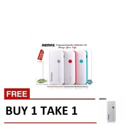 Remax, Jane V10 Powerbank 20000mAh B1T1 White,white,Jane V10 Powerbank 20000mAh B1T1 White image here