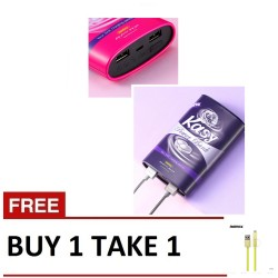 Remax, Kasy RPP64 Purple with 2in1 USB cable green,purple,Kasy RPP64 Purple with 2in1 USB cable green image here