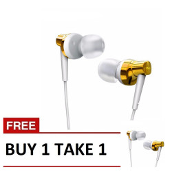 Remax, Stereo Metal Earphone RM 575 Pro Gold B1T1,gold,Stereo Metal Earphone RM 575 Pro Gold B1T1 image here