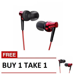 Remax, Stereo Metal Earphone RM 575 Pro B1T1 Red,red,Stereo Metal Earphone RM 575 Pro B1T1 Red image here