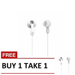 Remax,, Remax, Candy HiFi Earphone RM301  Buy1Take1 White, white, Candy HiFi Earphone RM301 White B1T1,white,Candy HiFi Earphone RM301 White B1T1 image here