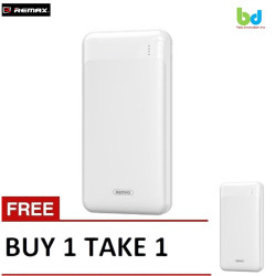 Remax Power Bank 20000mAh Fast Charging Powerbank LED Display Portable External Battery Charger RPP-148 B1T1 White image here