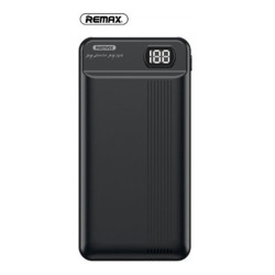 Remax 20000mAh Power Bank Dual Input And Output With LED Display RPP-106 Bloack image here