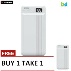 Remax 20000mAh Power Bank Dual Input And Output With LED Display RPP-106  B1T1 White image here