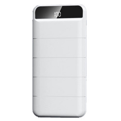 Remax 20000mAh High Speed Charging Powerbank for Mobile Phones with LED Display RPP-140 White image here