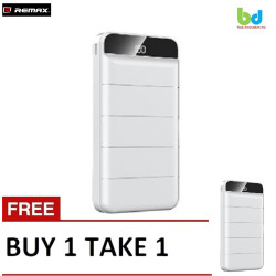 remax 20000mah high speed charging powerbank for mobile phones with led display rpp-140 BiT1 White image here