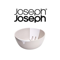 Joseph Joseph Hands On Salad Bowl with Integrated Servers - Stone image here