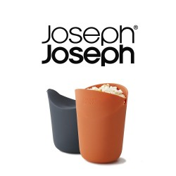 Joseph Joseph M-Cuisine Single-Serve Popcorn Maker set of 2 Orange/Grey image here