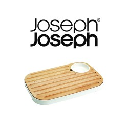 Joseph Joseph, Slice and Serve Bread and Cheese Board, brown, 70075 image here