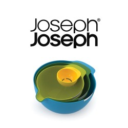 Joseph Joseph Nest Mix Mixing Bowls with Egg Yolk Separator, 4-Piece Set image here