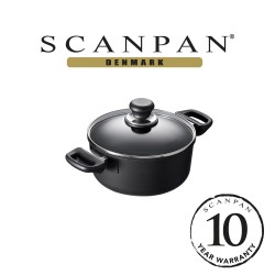 SCANPAN Classic Low Sauce Pot with Lid - 20cm,2.0L (with 10 year warranty)  20201200 image here