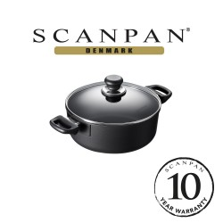 SCANPAN Classic Low Sauce Pot with Lid - 24cm,2.5L (with 10 year warranty)  24201200 image here