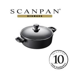 SCANPAN Classic Low Sauce Pot with Lid - 28cm, 5.0L (with 10 year warranty)  28201200 image here