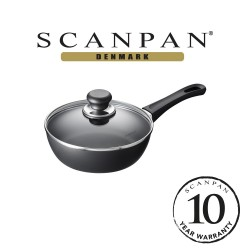 SCANPAN Classic Saute Pan with Lid - 20cm (with 10 year warranty)  20101200 image here