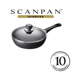 SCANPAN, Classic Saute Pan with Lid - 24cm (with 10 year warranty), 24101200 image here