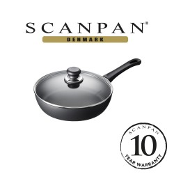 SCANPAN Classic Try Me Saute Pan with Lid - 26cm (with 10 year warranty)  26101204 image here