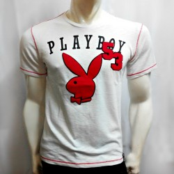 PLAYBOY, TSHIRT 605, WHITE, 18706052 image here