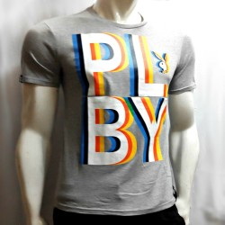 PLAYBOY, TSHIRT 838, GREY, 18708381 image here