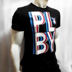 PLAYBOY, TSHIRT 838, BLACK, 18708382 image here