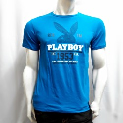 PLAYBOY, TSHIRT 623, BLUE, 18706232 image here